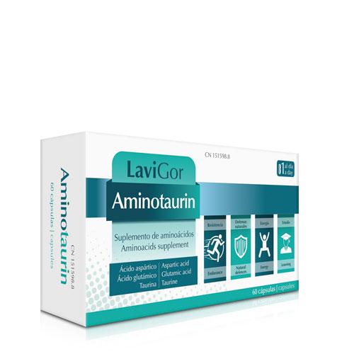 Estuche Aminotaurin que estimula el sistema inmune.