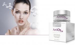 Envase AntiOx SPF 30 crema facial antioxidante con protección solar alta