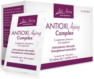 Estuche Antioxi Aging, suplemento antioxidante de amplio espectro.