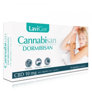 Caja de capsulas Cannabisan Dormibisan para facilitar el sueño