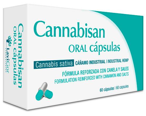 Imagen del estuche de cannabisan oral cápsulas de laboratorios Lavigor