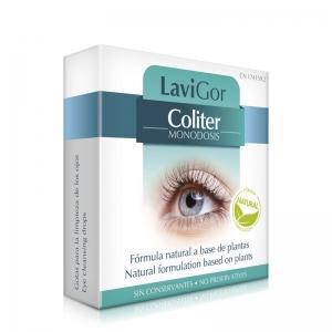Envase de Coliter monodosis para la irritación ocular