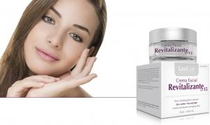 Envase de Crema Facial Revitalizante SPF 15 con protección solar media