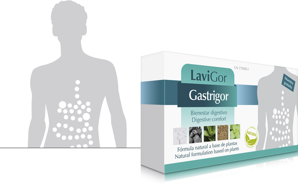 Estuche Gastrigor cápsulas para aliviar las malas digestiones