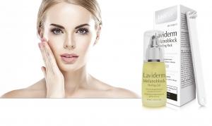 Envase de Laviderm Melanoblock Peeling Gel, tratamiento facial oil free