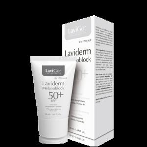 Envase Laviderm Melanoblock 50+ SPF, crema facial despigmentante