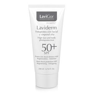 Envase Laviderm Fotoprotección facial y corporal alta 50+ SPF