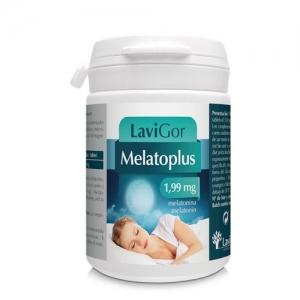 Bote melatoplus con comprimidos para mejorar jet lag.