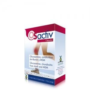 Estuche Osactiv cápsulas para procesos articulares degenerativos.