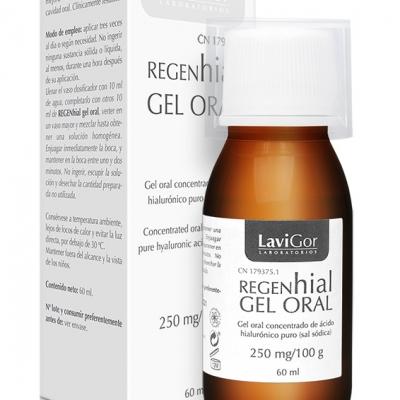 Estuche Regenhial Gel Oral concentrado de ácido hialurónico puro