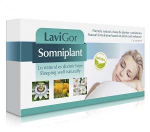 Caja de cápsulas Somniplant para favorecer el descanso.