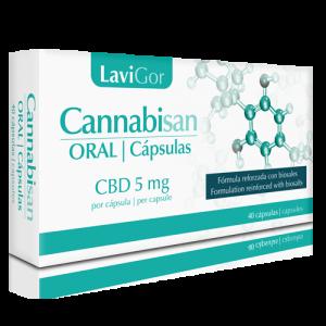 Cannabisan Oral Cápsulas de Laboratorios lavigor con cáñamo.