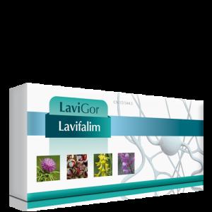 Caja de viales Lavifalim para mejorar la circulación de retorno y linfática.