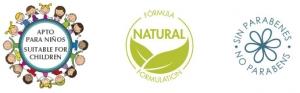 Apto para niños, fórmula natural, sin parabenes